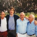 Junto a D. Manuel Barredo y José María Bengoa