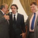 Junto a D. Manuel y D. José María Aznar
