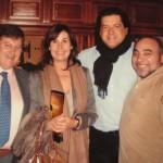 Dña. Carmen Martínez Bordiú, D. José Campos, y D. José Antonio Argumosa